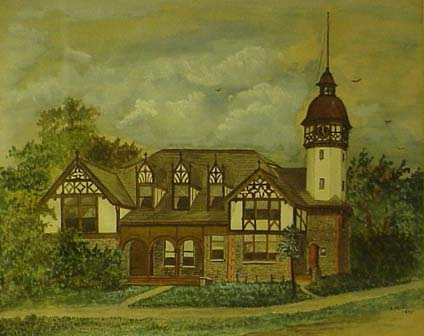 historic painting of a South Orange home