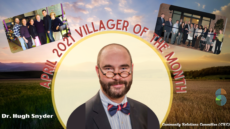 Banner Villager of the Month Dr. Snyder